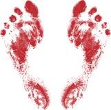 Rote Füße Stockfotografie