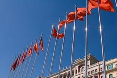 Rote Fahne Lizenzfreies Stockbild