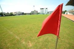 Rote Fahne Stockbild