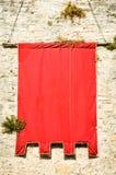 Rote Fahne Lizenzfreie Stockfotos