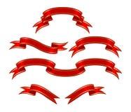 Rote Fahnen lizenzfreie abbildung