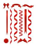 Rote Fahnen stock abbildung