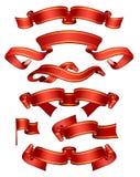 Rote Fahnen Stockbild