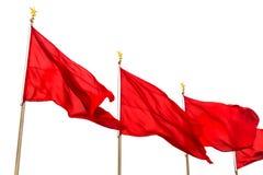 Rote Fahnen Lizenzfreie Stockbilder