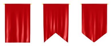 Rote Fahnen Lizenzfreies Stockfoto