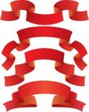 Rote Fahnen Stockfotos
