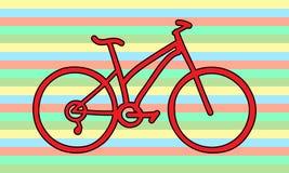 Rote Fahrradregenbogenfarben Lizenzfreie Stockbilder