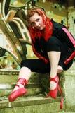 Rote Farbbänder 2 Stockbilder
