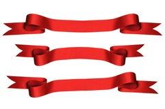 Rote Farbbänder mit Ausschnitts-Pfaden) Lizenzfreie Stockfotos