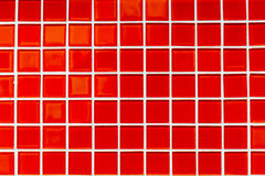 Rote Farbe quadriert kleine Fliesen Stockfoto