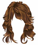 Rote Farben der modischen Haare der Frau langen Schönheitsmode vektor abbildung