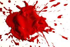 Rote Farben-Tropfen Lizenzfreie Stockfotos