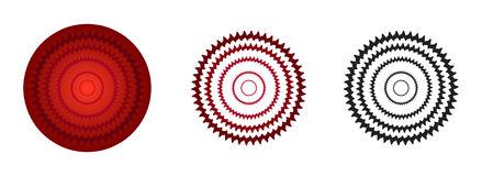 rote Farbrosettensteigung stock abbildung