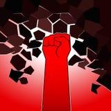 Rote Faust Stockbild
