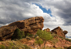 Rote Felsen-Anordnung in Kolorado Stockfotos