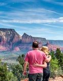 Rote Felsen-Ansicht Lizenzfreie Stockbilder