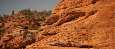Rote Felsen-Klippen Stockfotos