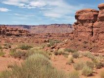 Rote Felsen-Klippen der Schlucht fasst Erholungsgebiet ein Lizenzfreies Stockbild
