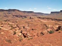 Rote Felsen-Klippen der Schlucht fasst Erholungsgebiet ein Stockbilder
