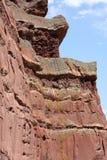 Rote Felsen-Klippen-Wand Stockbilder
