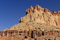 Rote Felsen-steile Böschung im Südwesten Stockbild