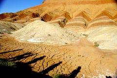Rote Felsen und einige Fotografen stockfotos