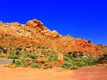 Rote Felsen in Utah Stockfotos