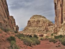 Rote Felsen von Schlucht-Kanten Stockbild