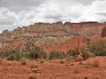 Rote Felsen von Schlucht-Kanten Stockfoto