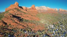 Rote Felsen von Sedona stock footage