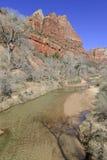 Rote Felsenlandschaft von Zion National Park, Utah Lizenzfreie Stockfotografie