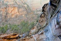 Rote Felsenlandschaft von Zion National Park, Utah Lizenzfreie Stockbilder