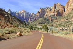 Rote Felsenlandschaft in Zion National Park, Utah Stockfotografie