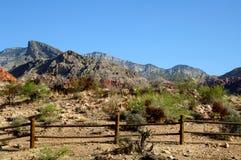 Rote Felsenschlucht Nevada des Zauns Lizenzfreies Stockbild