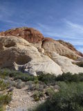 Rote Felsenschluchtlandschaft Stockfotos