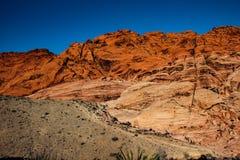 Rote Felsformation der Wüste außerhalb Las Vegass, USA Lizenzfreie Stockfotos