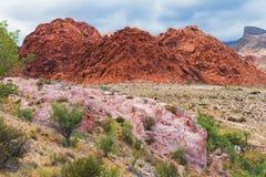 Rote Felsformationen Stockfotos