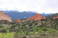 Rote Felsformationen am Garten der Götter Lizenzfreies Stockbild
