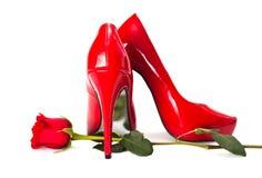 Rote Fersen Stockfoto