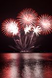 Rote Feuerwerke Lizenzfreies Stockbild