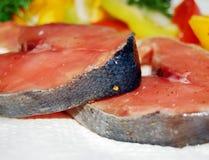 Rote Fische, Lachse. stockbilder