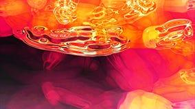 Rote flüssige Abstraktion Stockfoto