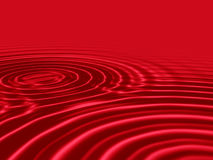 Rote Flüssigkeit des Bluts mit geplätscherten Wellen Lizenzfreie Stockfotografie