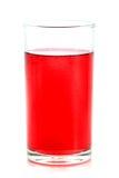 Rote Flüssigkeit im Glas Stockfoto