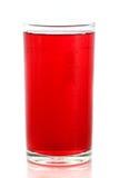 Rote Flüssigkeit im Glas Stockfotos