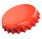 Rote Flaschenkapsel Stockfotografie