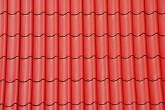 Rote Fliese auf dem Dach Lizenzfreies Stockbild