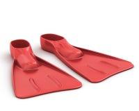 Rote Flippernahaufnahme lizenzfreie abbildung