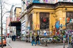 Rote flory przy Schanzenviertel w Hamburg, Niemcy Fotografia Stock