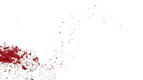 Rote Flussflüssigkeit wie Farbe bewegt sich in Zeitlupe 3d übertragen flüssige CG-Zeitlupe mit Alpha Matt-, vollem hd simuliert stock abbildung